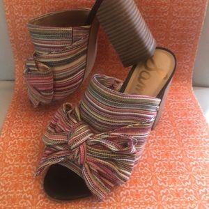 Sam Edelman Yumi Woven Stripe Slide Sandals